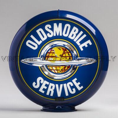 "Oldsmobile Service 13.5/"" Gas Pump Globe w// Dark Blue Plastic Body G235"