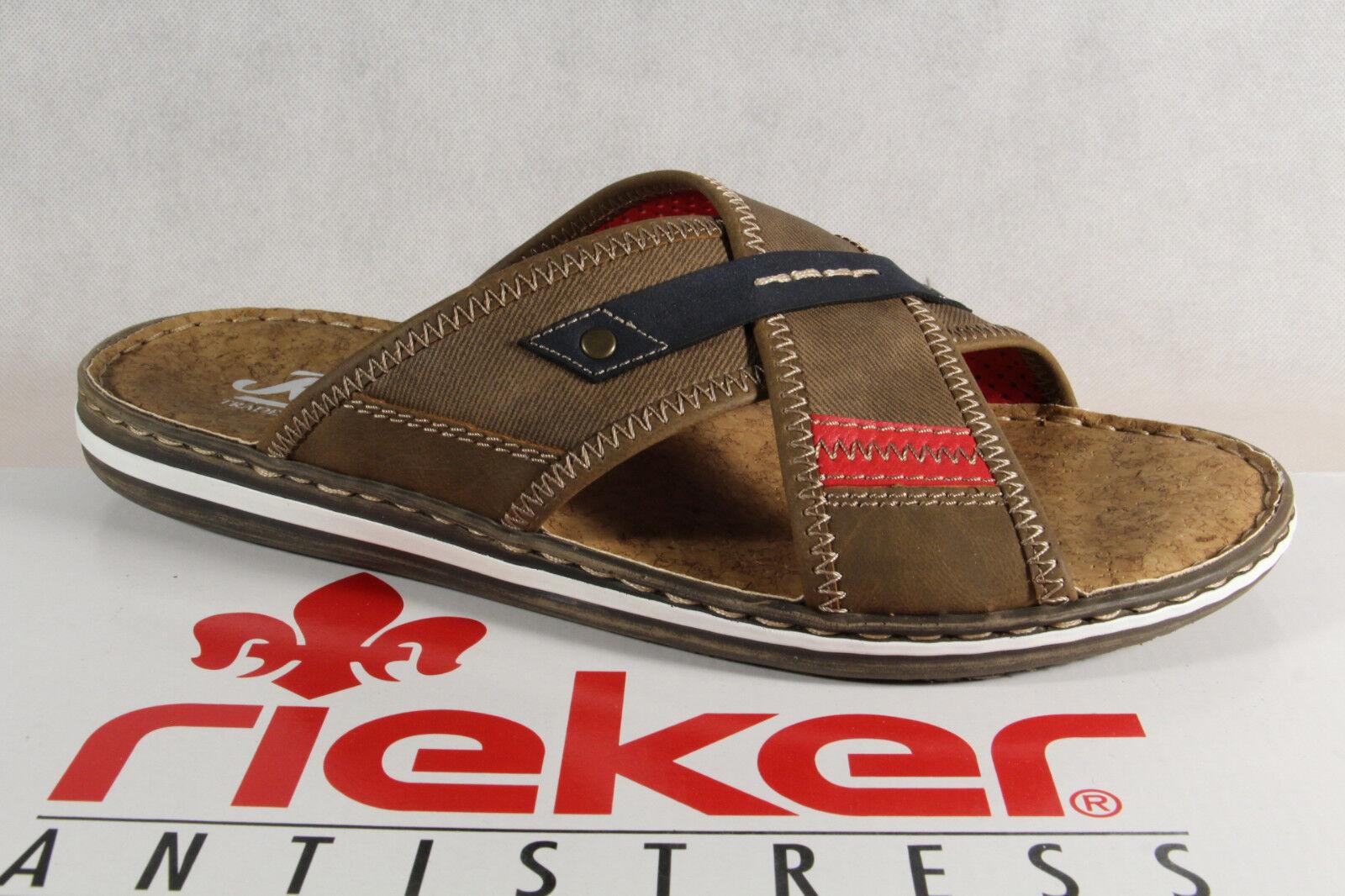 Sandali e scarpe per il mare da uomo Ciabatte Rieker Sandali Ciabatte uomo Zoccoli Pantofola Pantofole Marrone 21053 Nuovo 104f24
