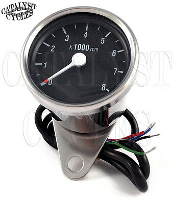 Chrome Tachometer for all Dual Fire Ignitions Motorcycle Tach Universal on