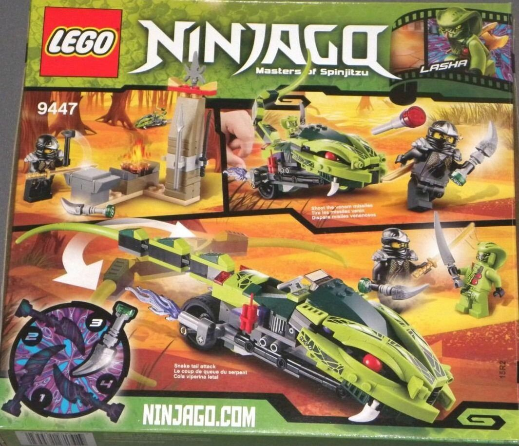 NEW,.SEALED   LEGO Ninjago Lasha's Bite Cycle, 9447(Cole, ZX, Lasha) 250 pcs