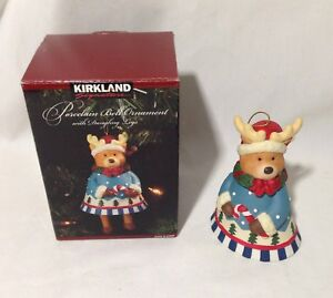 image is loading kirkland porcelain bell ornament with dangling legs christmas