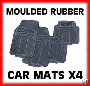 Heavy Duty 100% Rubber Moulded Car Mats 4 Peices Alfa