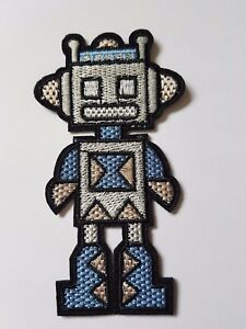Robot Character Iron On Patch Sew On Transfer badge fancy Dress