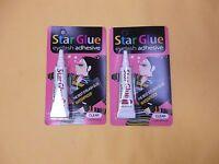 2 Star Eyelash Glue Clear Adhesive 1/4 Oz - Free Ship