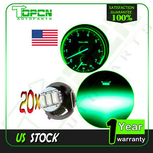 20Pcs-T4-T4-2-Neo-Wedge-3-SMD-Green-Panel-HVAC-Climate-Control-Light-LED-Bulbs