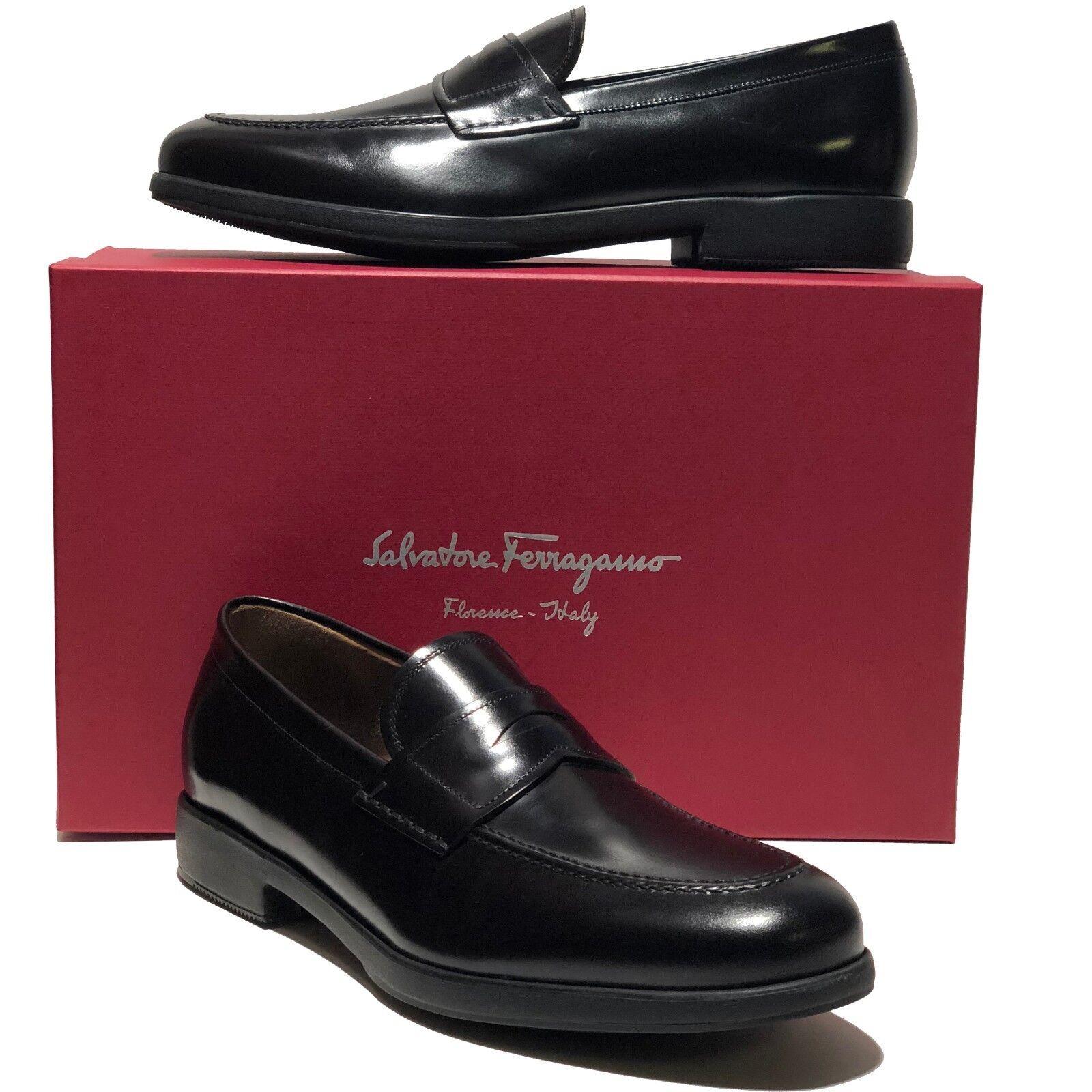 controlla il più economico Ferragamo nero Leather Fashion Penny Dress Loafers Loafers Loafers Uomo Casual Moccasin Formal  forniamo il meglio