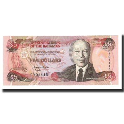 Bahamas #590173 Unc Km:52a 1995 65-70 L.1974 5 Dollars