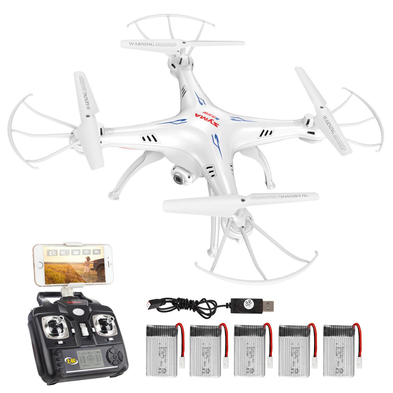 SYMA X5SW FPV Wifi Camera RC Quadcopter Drone Headless Mode 3D Flip LED Light