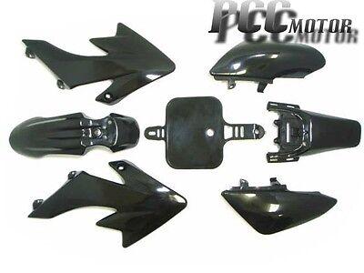 BLACK PLASTIC KIT HONDA CRF XR50 CRF50 SDG 107 110 125CC PIT BIKE M PS02