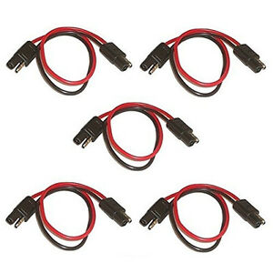 5pcs-18-gauge-2-pin-molded-connector-30cm-long-wire-harness-SAE-connectors