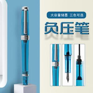 Wing-Sung-3013-Paili-013-Vaccum-Fountain-Pen-Transparent-EF-F-Nib-Ink-Pen