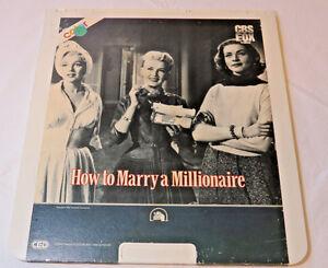 How-To-Marry-a-Millionaire-Marilyn-Monroe-CBS-Fox-CED-Video-Disc-videodisc-movie
