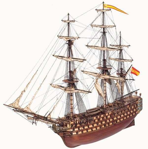 Occre Santisima Trinidad 1st Rate Ship of the Line 1 90 15800 Model Boat Kit
