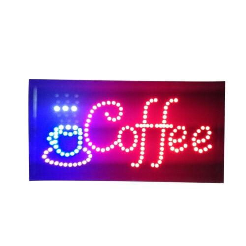 Neon Lights LED Animated Coffee Sign Customers Attractive Sign  Shop Sign 110V