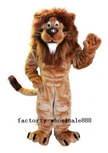 New Adult Size Carnival Deluxe Lion Mascot Costume Cos Party Dress Cospaly Gifts