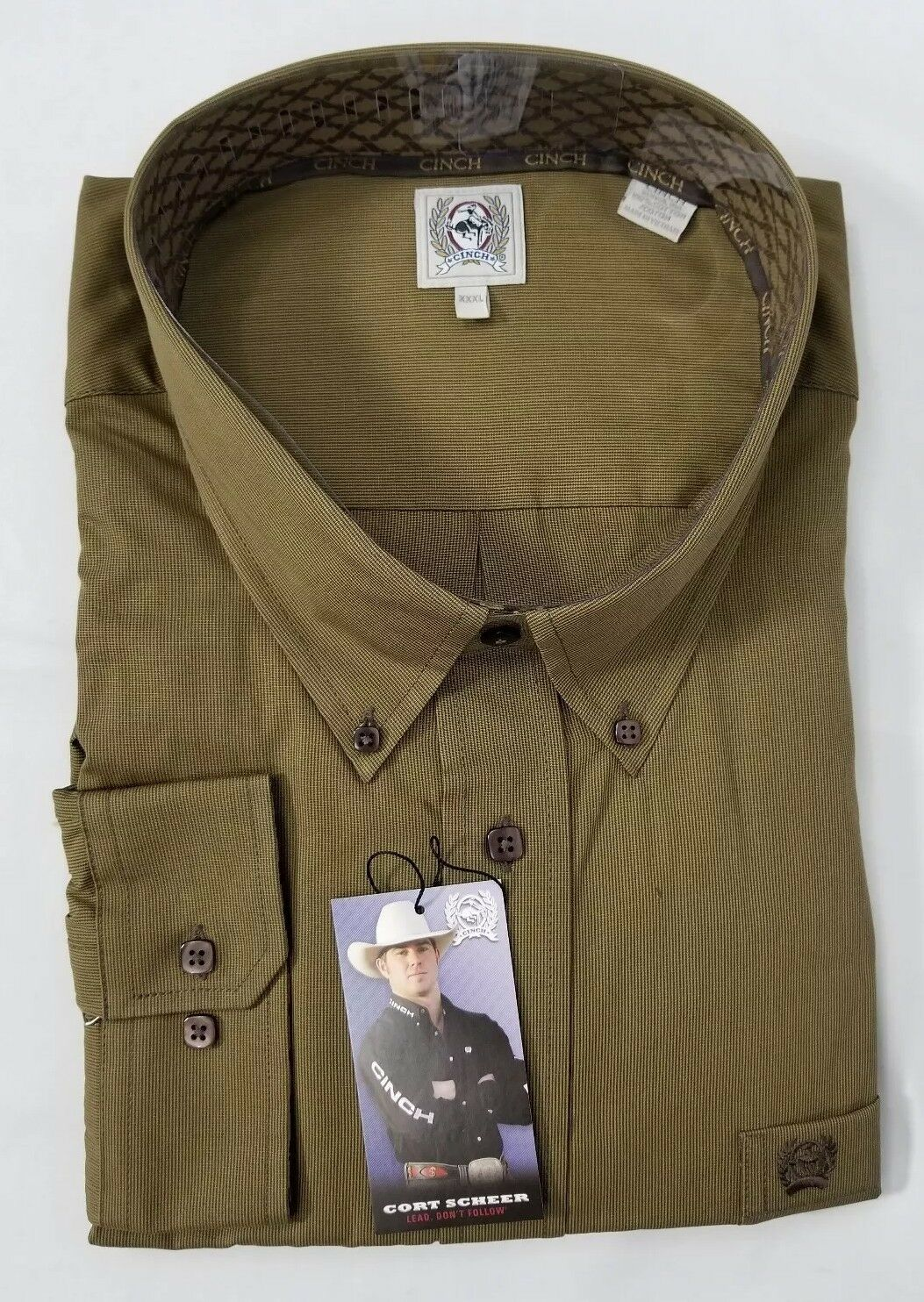 Cinch Classic Fit Western button down long sleeve shirt mens size 3XL.