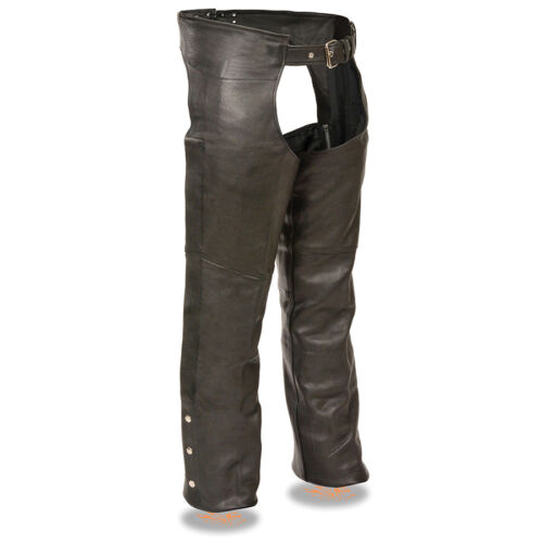 Milwaukee Leather Men's Fully Lined Classic Motorcycle Chaps  **SH1115