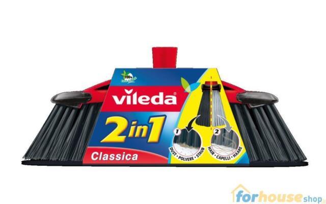 """2 in 1 classica scopa Vileda Scopa per camera con innovative setole /""""2 in 141460"""