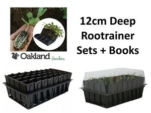 Haxnicks Deep Rootrainer Sets Root Trainer Books Cells Plug Plant Seed Tray