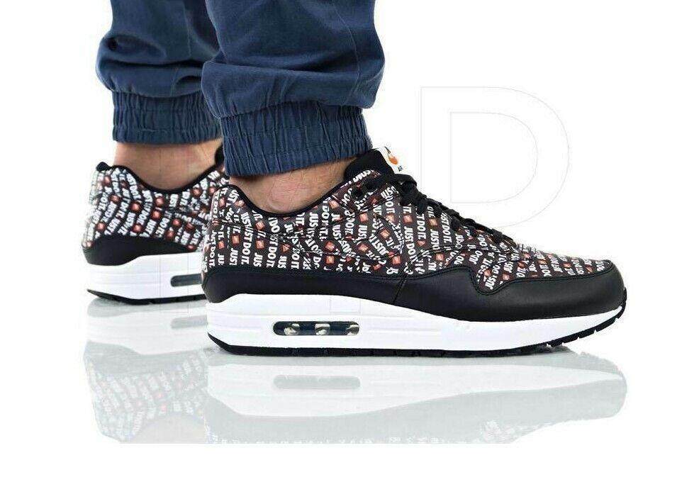 Nuevo en caja para hombre NIKE MAX 1 Prima Negro JDI AIR hacerlo Atléticas Zapatos Correr JUST