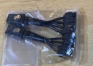 10cm Set of 2x Hp 676918-001 M36P convert-1xSFF 8087-4x SATA(M), MOLEX New Bulk