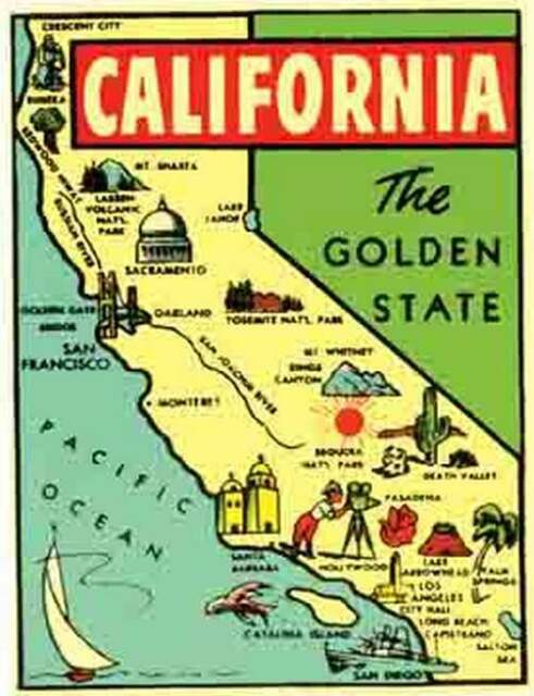 California S Map on