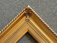3.25 Gold Wood Antique Picture Frame Photo Art Gallery 296g Frames4art