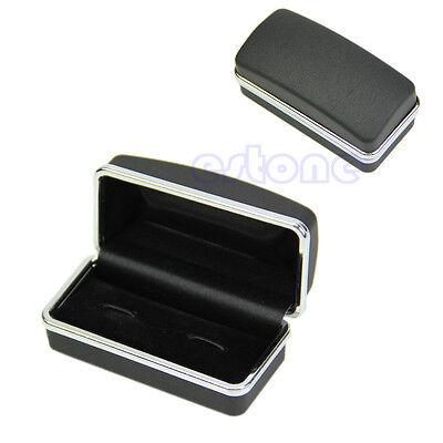 Cufflinks Jewelry Storage Organizer Case Cuff Link Display Box Holder Black