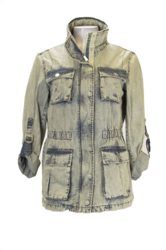 168 Anorak Sz Medium Wash Women Bleached Denim Waised Bcbgeneration 8pwZT7q