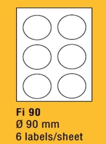 100x DIN A4 Etiketten Klebeetiketten selbstklebend Bögen weiß Größe 90 x 90 mm