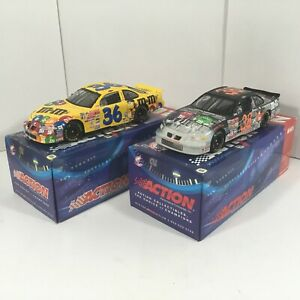 Action-Racing-1-24-Diecast-Ken-Schrader-2001-M-amp-M-Grand-Prix-QTY-2