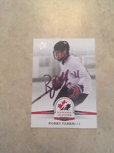 Robby-Fabbri-Signed-Team-Canada-Card-Detroit-Red-Wings