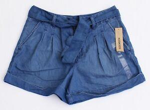 da pieghe Jeans blu con Nwt pantaloncini con donna davanti Dkny cintura 7O8wZIqxw