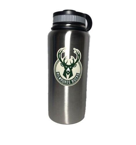 32oz or 40oz 2 colors Milwaukee Bucks Stainless Steel Water Bottle 18oz
