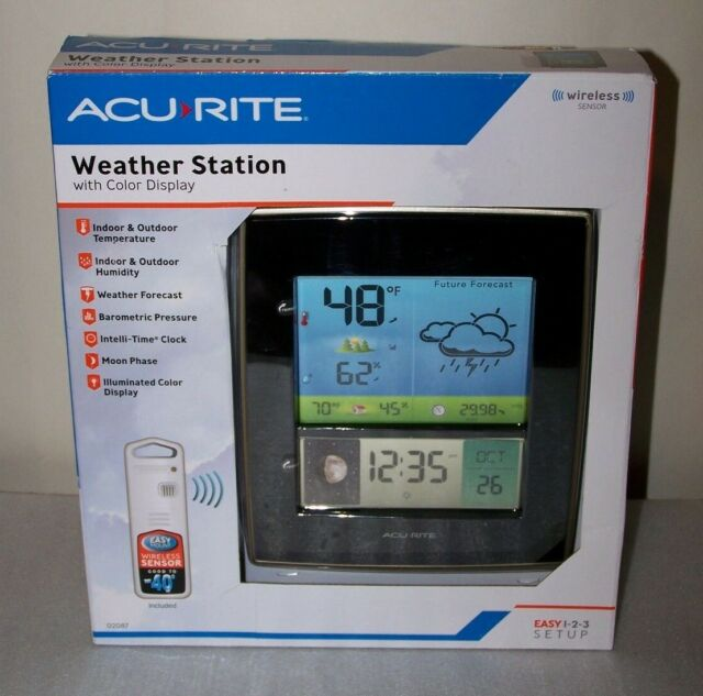 Acurite LED Digital Weather Station Wireless Outdoor Sensor 02087 Color Display