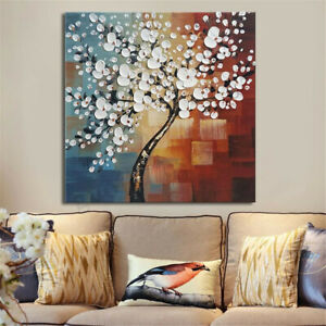 Framed-Flower-Tree-Abstract-Canvas-Print-Paintings-Wall-Picture-Art-Home