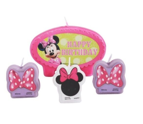 Minnie Mouse Birthday Cake Candle Set Party Supplies