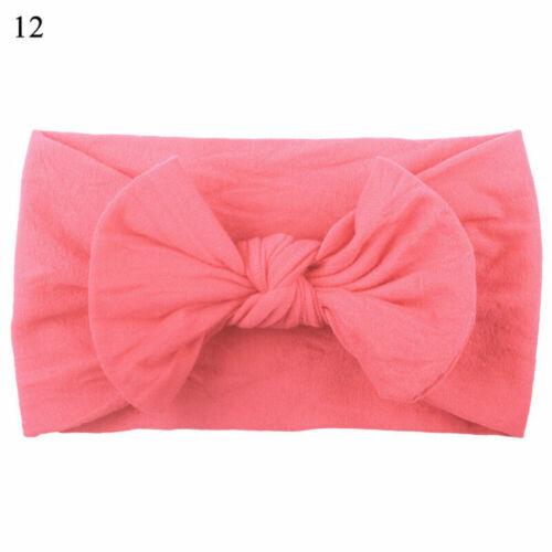 Newborn Toddler Baby Girl Head Wrap Rabbit Bow Knot Hair Band Turban Headband