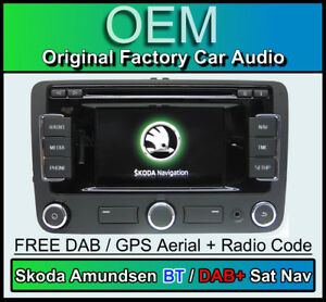 skoda amundsen navigationssystem stereo dab bluetooth. Black Bedroom Furniture Sets. Home Design Ideas