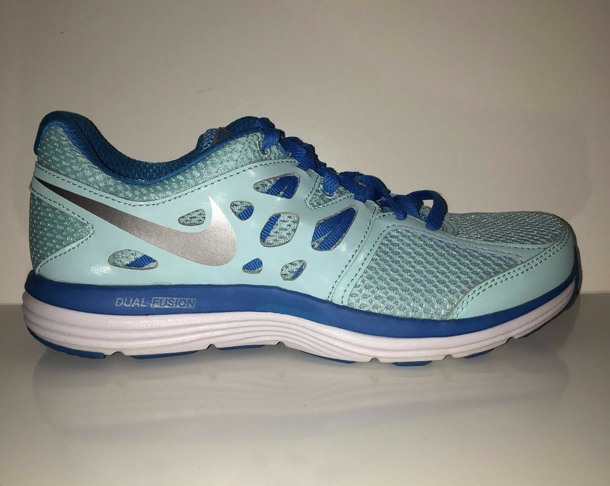 NEW NIKE Women's Dual Fusion Lite 599560-414 Running Sneakers Blue Shoes Sz 6.5