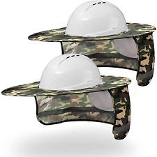 Hard Hat Sun Shade Full Brim Mesh Neck Sun Shield Protector With High Visibility