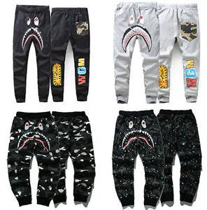 Image is loading Bathing-Ape-Pants-Bape-Sweatpants-Skinny-Outwear-Casual- bc9eebab1