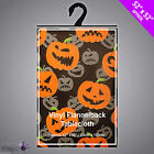 Halloween Pumpkin Table Cloth Cover for Kids Parties Vinyl Flannelback