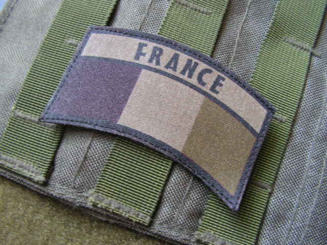 Snake Patch OPEX FRANCE - DEMI LUNE - KAKI BASSE VISIBILITE - pilote BANANE CPA