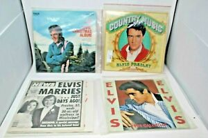 Elvis-Presley-Vintage-Collectible-Records-Two-Calendars-amp-a-Newspaper-Lot-of-5