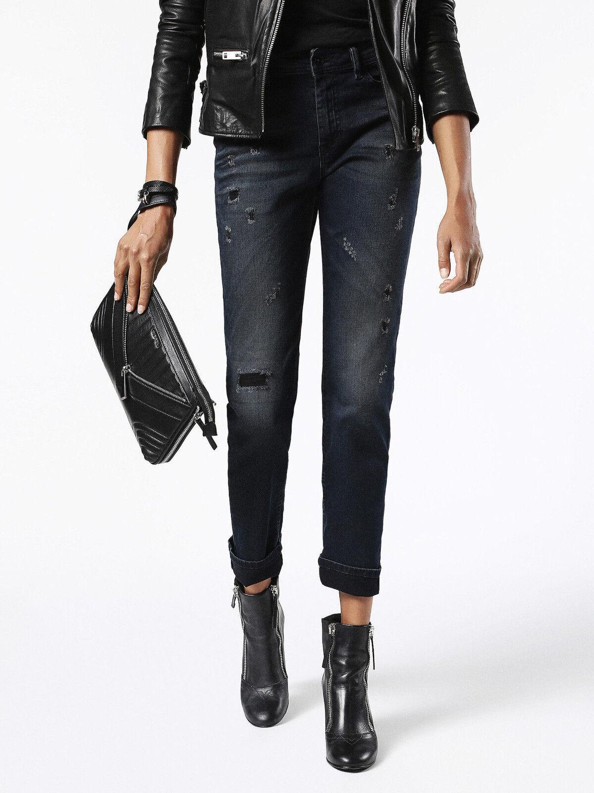 340 Authentic Rare DIESEL Women's Reen 0677K Slim Regular Straight Jeans Denim