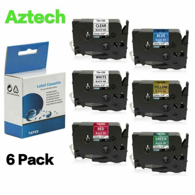 Schriftband Kassette 6mm S-MATT TRANSP für BROTHER P-Touch TZE-D11