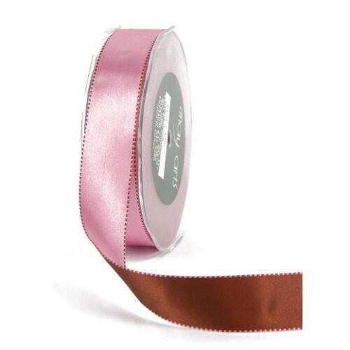May Arts 25mm Stitch Edge Reversible Satin Ribbon 1m