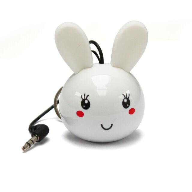 Sound2Go Mini White Rabbit Keyring Speaker