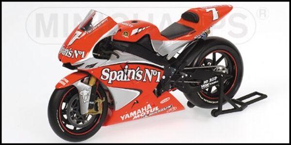 1:12 Minichamps Carlos Checa Yamaha YZR M1 2018 Moto GP Fortuna Team RARE NEW